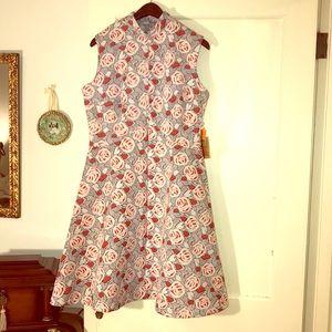 Vintage NOS NWT Rose 🌹 Floral Dress 14